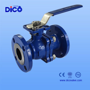 Stoving Varnish Wcb Flange Ball Valve with Ts Certificate pictures & photos