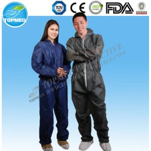 Orange Color Dustproof Disposablemicroporous Coverall pictures & photos