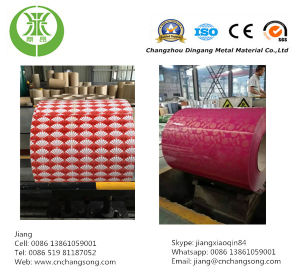 Print Design Flower Color Coated Steel Coil PPGI Sheet Made in China pictures & photos