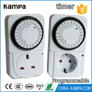 Mechanical Timer Socket 24 Hours Electrical Energy-Saving Mechanical Timer Socket Outlet Timing Switch for Home Appliances pictures & photos
