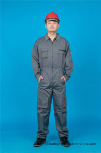 65% Polyester 35%Cotton Long Sleeve Safety Cheap Coverall Garment (BLY2007) pictures & photos