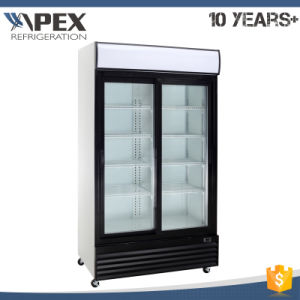 Two Doors Display Cooler with Ventilator Dynamic Cooling System, Ce, CB, ETL Approved pictures & photos