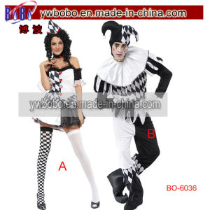 Harlequin Jester Clown Costume Halloween Carnival Birthday Party (BO-6036) pictures & photos