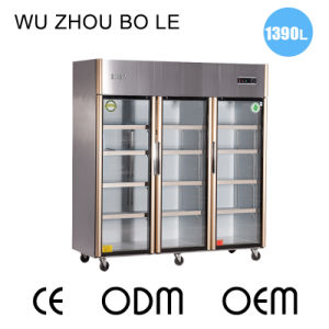 Three Swing Doors Kitchen Refrigerator with Detachable Magnetict Door Seal