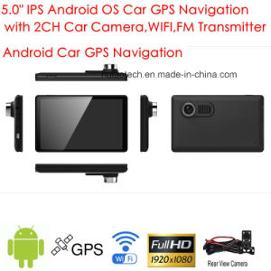 5.0inch Capacitive Multi-Touch Android Car GPS Navigation Tablet PC with 2CH Car DVR, 5.0mega Car camera, WiFi; Bluetooth; FM-Transmitter; GPS Navigator pictures & photos