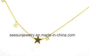 Simple Sterling Silver Star Shape Necklace for Girl pictures & photos