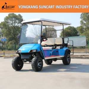 6 Passenger Electric Hunting Golf Cart, Blue Color Cart Golf Car pictures & photos