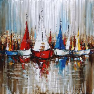 Museum Quality 3D Metal Wall Art Oil Painting for Sailing pictures & photos