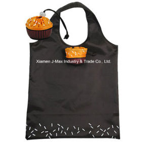 Promotional Colorful Foldable Reusable Lightweight Handy Fancy Shopping Tote Cupcake Style Polyester Tote Bags pictures & photos