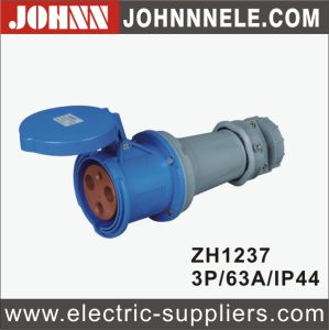 IP44 3p 63A Surface Mounted Industrial Plug pictures & photos