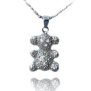 2016 Hot Selling Classial Cute CZ Stone Sterling Stainless Steel Cat Pendant Necklace pictures & photos