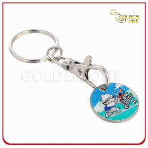 Personalized Iron Color Filling Trolley Coin Holder Keychain pictures & photos
