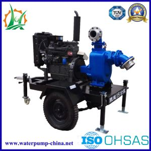 Non-Clogging Centrifugal Self-Priming Sewage Water Pump Trailer Sets pictures & photos