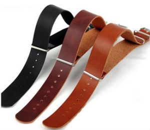 High End Nato Straps Genuine Cow Leather Watch Band Strap 18mm 20mm 22mm and 24mm Zulu Nato Watch Band Strap pictures & photos