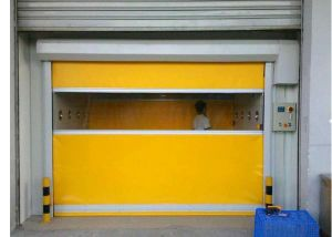 Insulated Roll up High Speed Self-Recovery Clean-Room Door (Hz-HSD012) pictures & photos