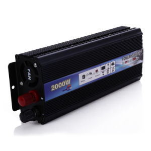 DC24V to AC220V 2000W Vehicle USB Adapter Converter Car Power Supply Inverter pictures & photos
