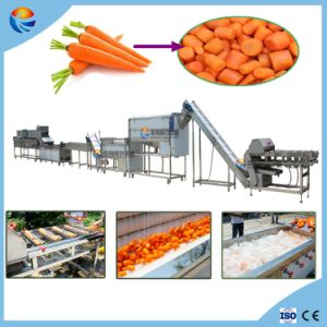 Automatic Radish Carrot Cutting Washing Peeling Polishing Drying Production Line pictures & photos