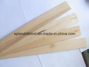 35mm Ladder String Cord Tilt Real Wood Slat with UV Coating (SGD-Blind-1083) pictures & photos