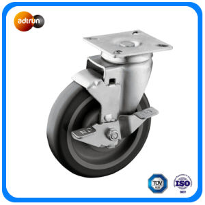 5-Inch TPU Wheel Swivel Plate Casters pictures & photos