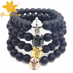 SMB-16120217 Black Mat Stone Jewellery UK Bracelet