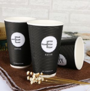 Disposable Double Wall Paper Cup/Ripple Paper Cup for Hot Drink Hot Coffee pictures & photos