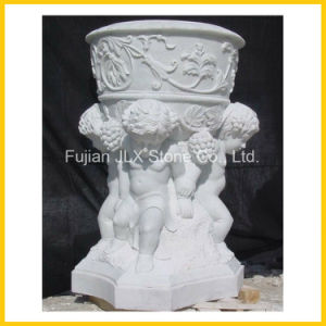 White Marble Sculpture Stone Garden Pot pictures & photos