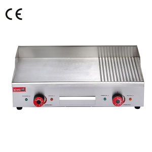 High Quality Factory Sale Tabletop Gas Groove Hot Plate Hamburger Grill Griddle pictures & photos