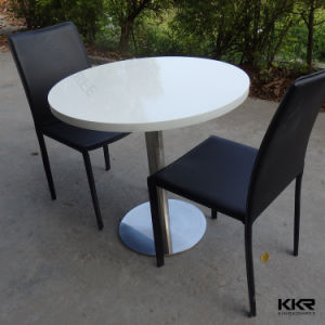 White Furniture Acrylic Stone Table and Chair for Hotel (61205) pictures & photos