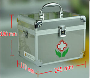 Gray Lockable Aluminum Survive Medical Emergency Kit with Screen Print pictures & photos