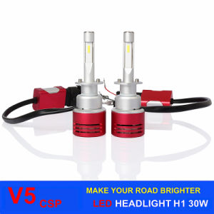 Auto Lighting Car LED Headlight V5 30W 4200lm H1 H3 H7 H11 Hb3 Hb4 LED Car Headlight, Motorcycle LED Headlight pictures & photos