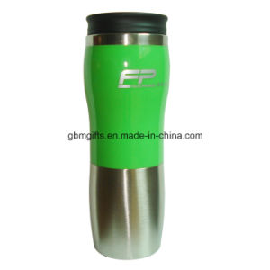Double Wall Stainless Steel Travel Mugs, 16oz Capacity, Half PS Outer pictures & photos
