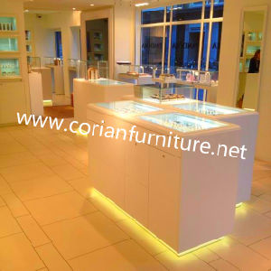 Avonite Solid Surface Custom Sized Cosmetic Store Display Cabinets pictures & photos