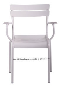 Dining Restaurant Garden Coffee Luxembourg Stacking Armchair White Side Chair pictures & photos