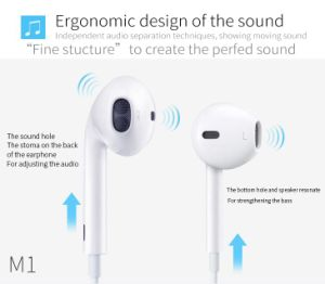 GM1 3.5mm Noise-Isolating HiFi Earphone Headphone Super Bass Stereo Headsets for Smartphone pictures & photos