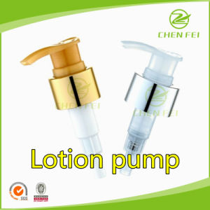 Aluminum Ring 28 410 Plastic Lotion Pump with Shiny Closure pictures & photos