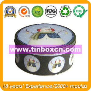 Round Tin Box for Christmas Packaging Box, Gift Tin Box pictures & photos