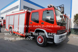 4*2 Isuzu 6 Tons Water Tanker Fire Fighting Truck for Cambodia pictures & photos