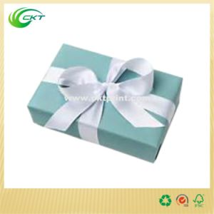 Generous Jewelry Gift Lid and Buttom Box with Ribbon (CKT-CB-301)