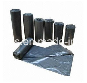 Garbage Dustbin Trash Bags on Roll Black Garden Bag on Roll Fr-17071306 pictures & photos