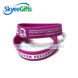New Design Custom Debossed Silicone Bracelet for Promotion pictures & photos