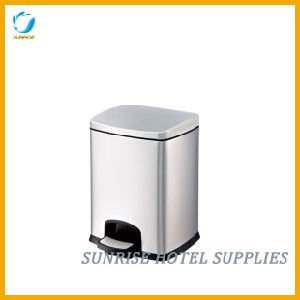 12L Sqaure Pedal Bin Stainless Steel Bin with Finger Print Resistant pictures & photos
