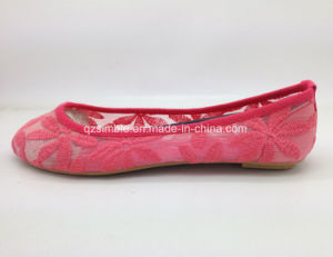 New Style Women Ballet Shoes with Embroidery Mesh Upper pictures & photos