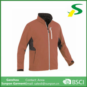 All Seamless Waterproof Zippers Man Softshell Jacket pictures & photos