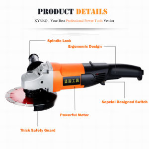 1400W/125mm Kynko Power Tools Electric Angle Grinder for Stone (6631) pictures & photos