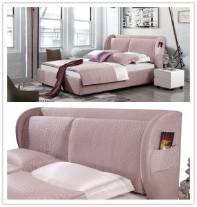 New Models Bedroom Furniture Soft Bed (730-1) pictures & photos