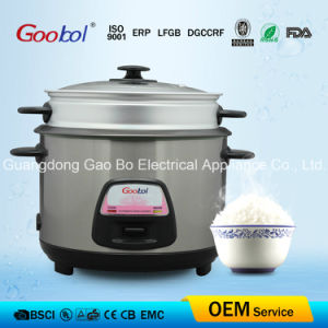 Glass Lid Stainless Steel Straight Rice Cooker pictures & photos