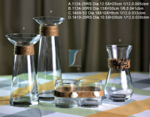 Clear Glass Vase (1124-25) pictures & photos