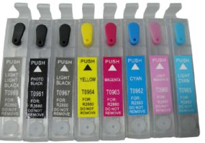 Refillable Ink Cartridge for Epson Stylus R2880