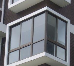 Powder Coating Bronze Aluminium Fixed Window pictures & photos