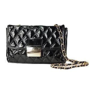 High Quality Single Shoulder Bag Cosmetic Bag PU Handbag Vintage Bag Women′s Messenger Bags Diamond Lattice Chain Black Women Bag Sf04